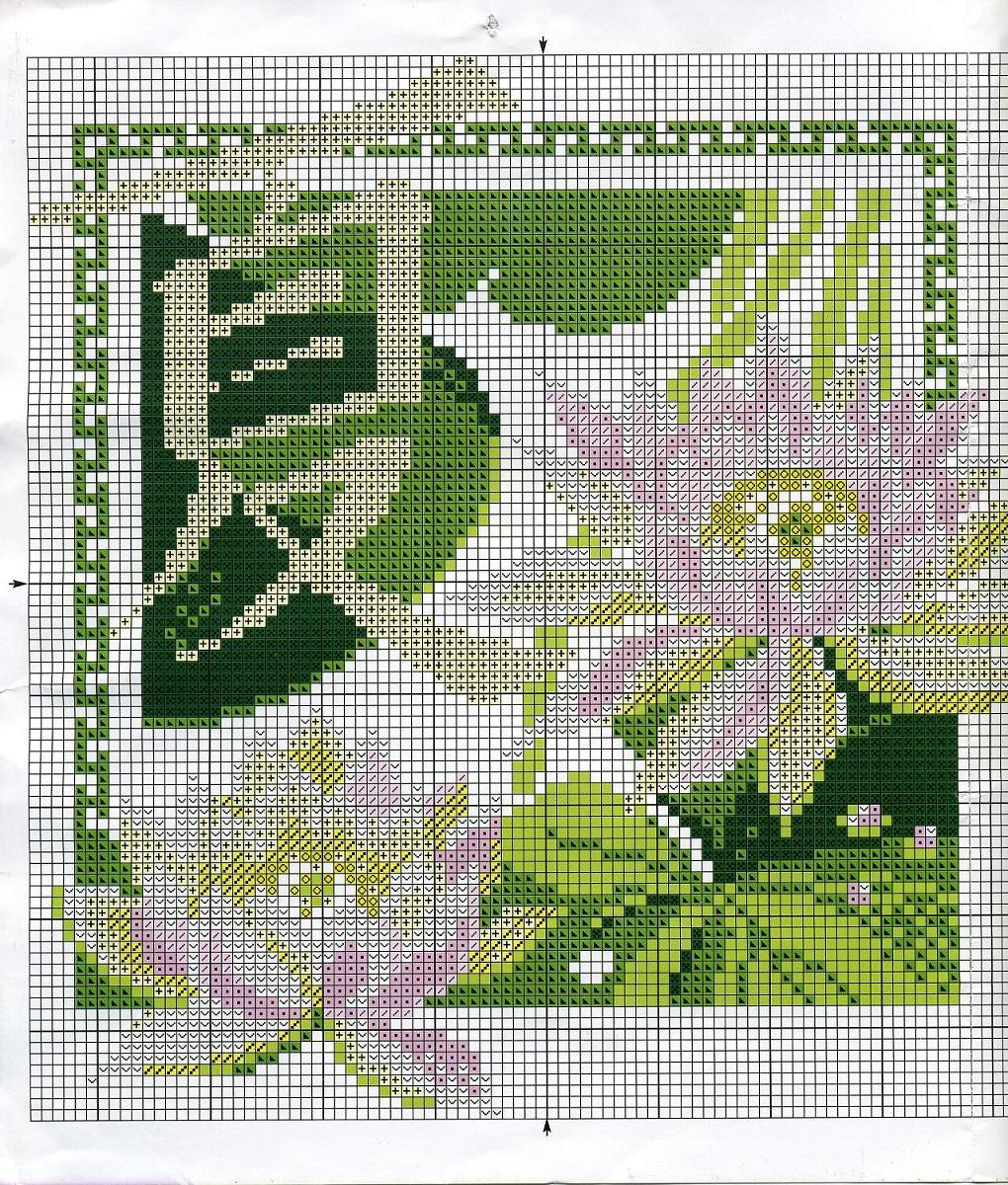 Вышивка крестом — схема простой, но красивой картины «Водяная лилия»