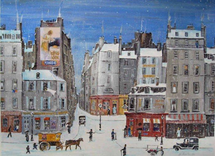 Зимний Париж.  Автор: Michel Delacroix.