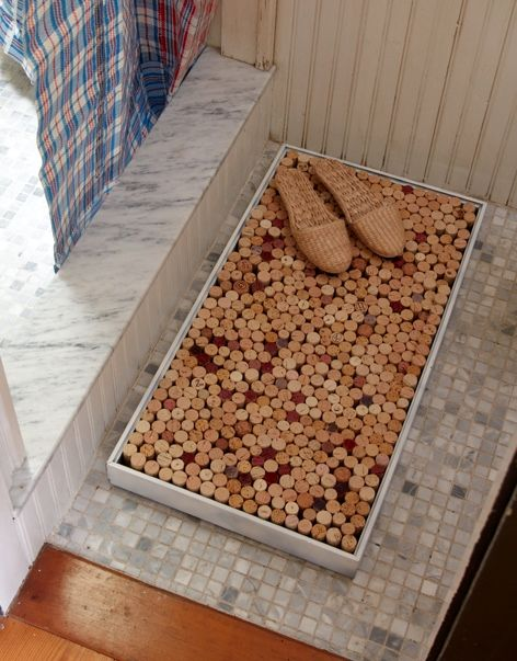 коврик в ванную из пробок