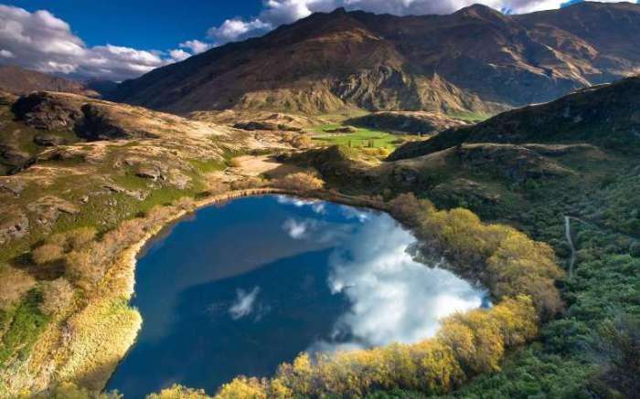 Озера в Новой Зеландии.