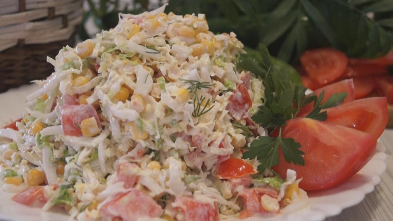 Салат с капустой пекинской рецепт очень вкусный с