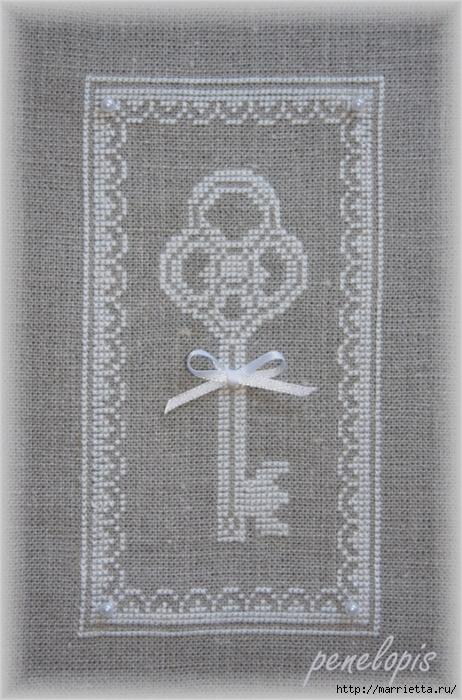 Винтажная вышивка. Схемы и идеи для вдохновения (71) (462x700, 304Kb)