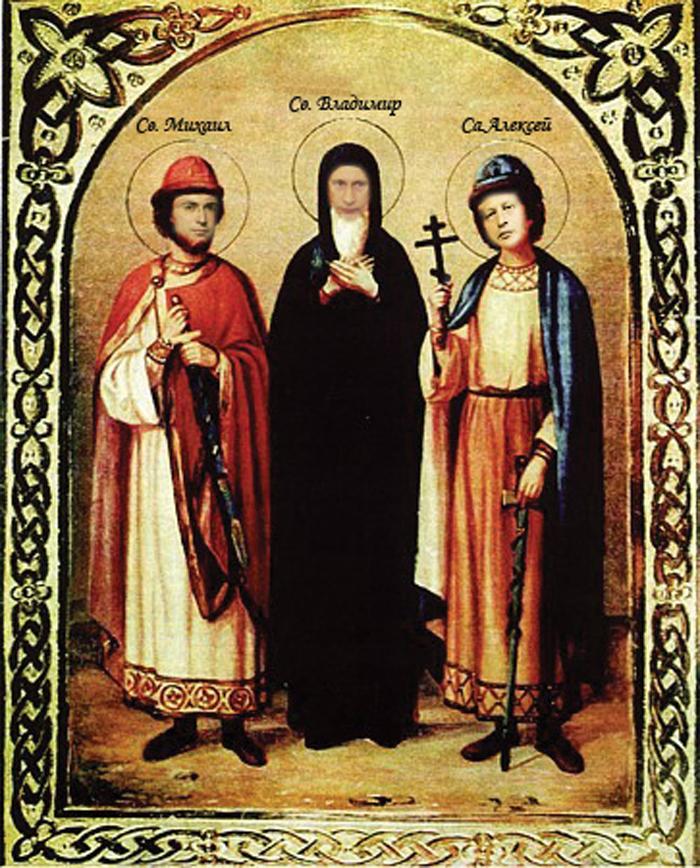 2 октября - Память благоверных князей Феодора Смоленского и чад его Давида и Константина.