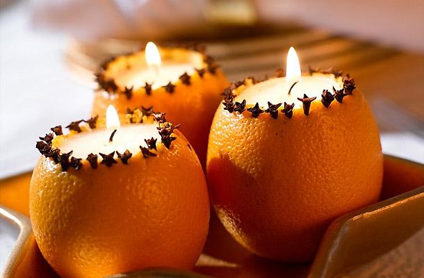 Благодаря такому подсвечнику в воздухе будут слышаться нотки апельсина и гвоздики
