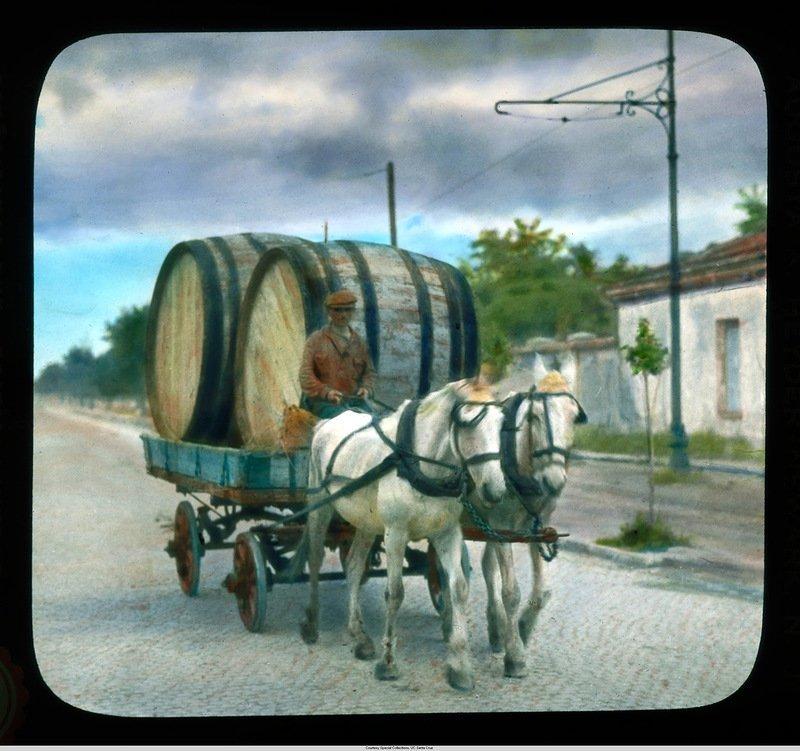 Человек с бочками в лошадиной повозке Бренсон ДеКу, кадр, люди, одесса, фото, фотограф