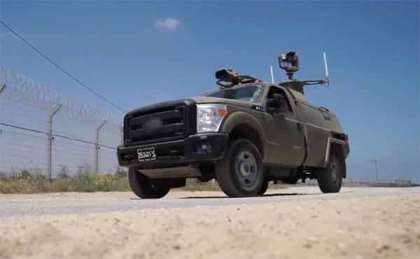 Израиль патрулирует границу с Сектором Газа с помощью беспилотных автомобилей