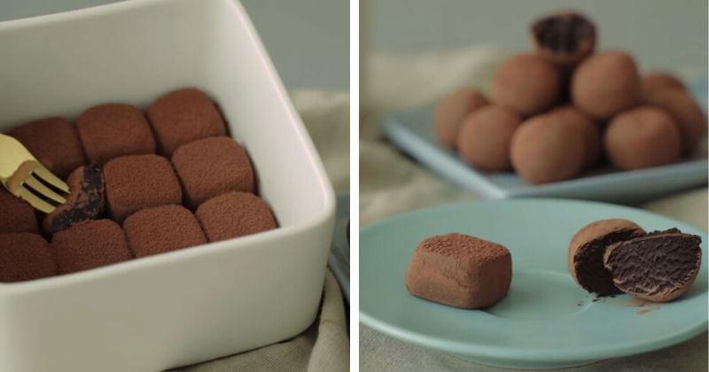 Шоколадные трюфели всего из …