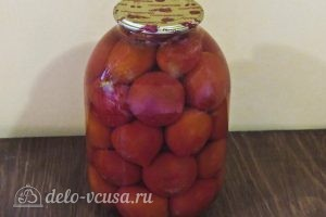 Помидоры в собственном соку на зиму: Залить помидоры кипятком