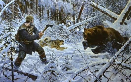 Таежный охотник об ученике в тайге!
