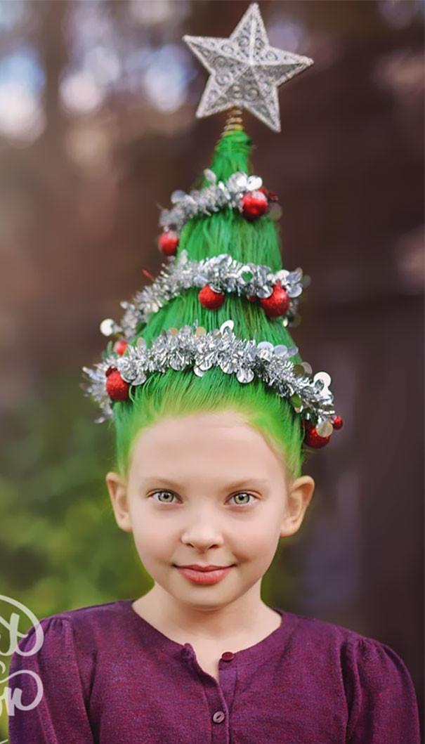 33. Праздничная елка волосы, праздник, прическа, рождество