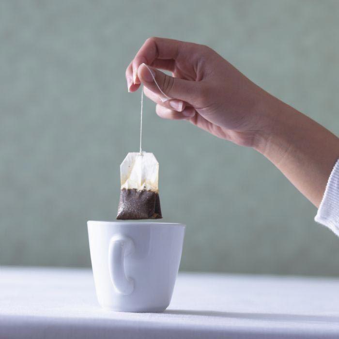 повторное использование чайных пакетиков, чайный пакетик