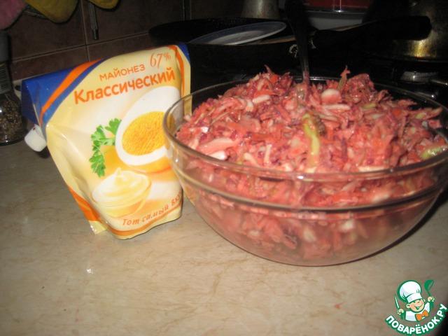"""Салат из белокочанной капусты и мяса """"Не верю"""" - советую попробовать!"""