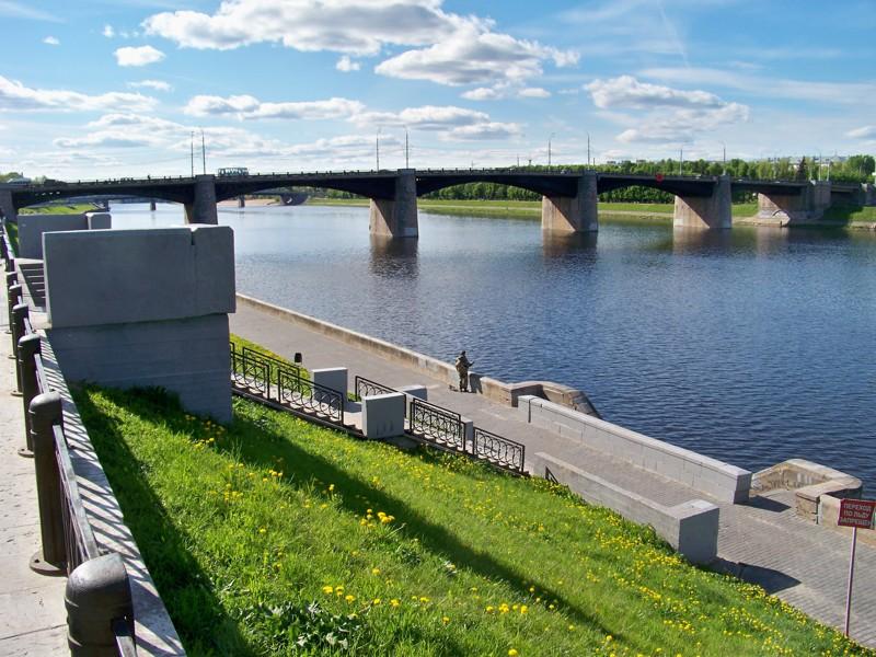 Новый Волжский мост Города России, Тверская область, красивые места, пейзажи, путешествия, россия, тверь