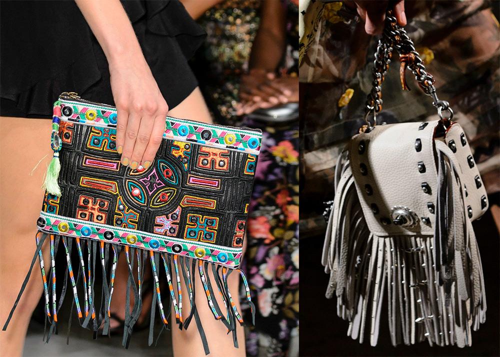 Подборка замшевых и кожаных сумок с бахромой 2017