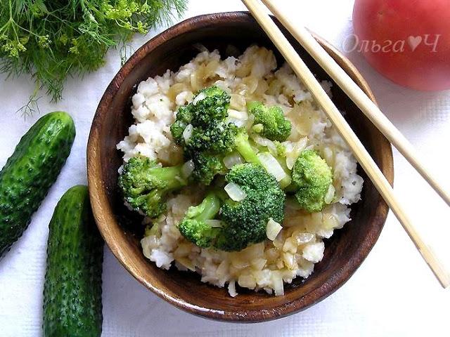Рис с брокколи по-китайски