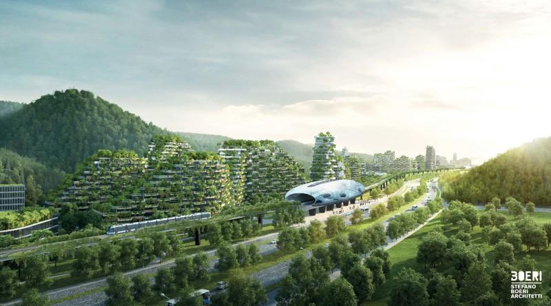 Китайцы строят первый в истории современный «лесной город» из 40 тыс. деревьев