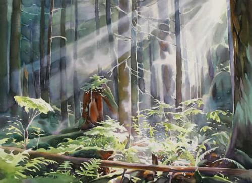 акварель пейзажи David McEown - 07
