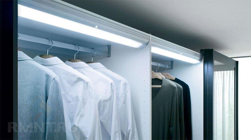подсветка в шкаф купе камера