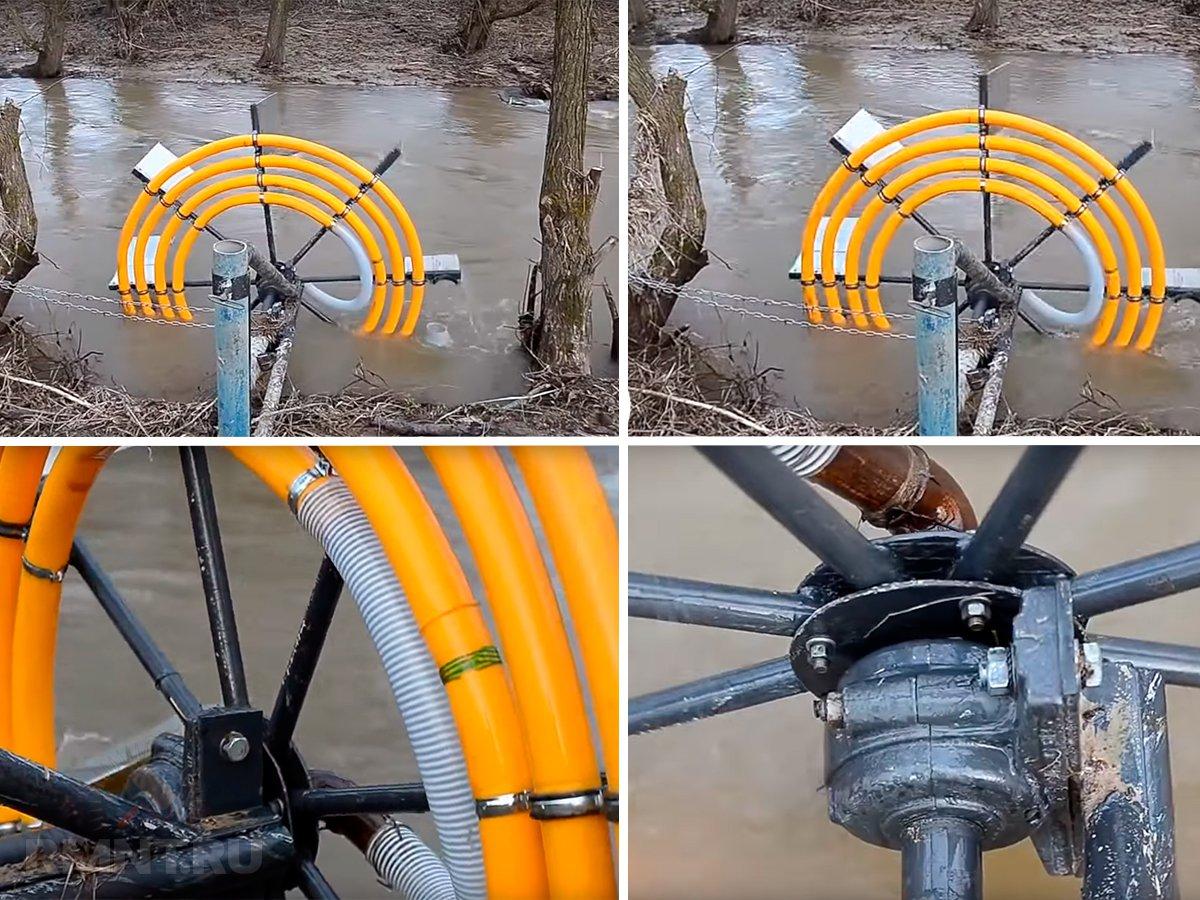 Водяное колесо своими руками чертежи