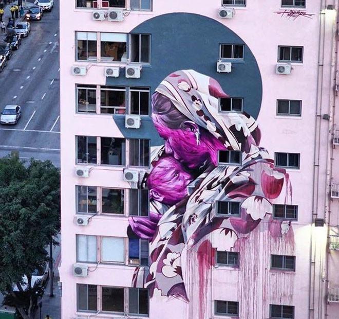 Hopare (Франция) в мире, граффити, интересное, искусство, подборка, стрит-арт, уличное искусство