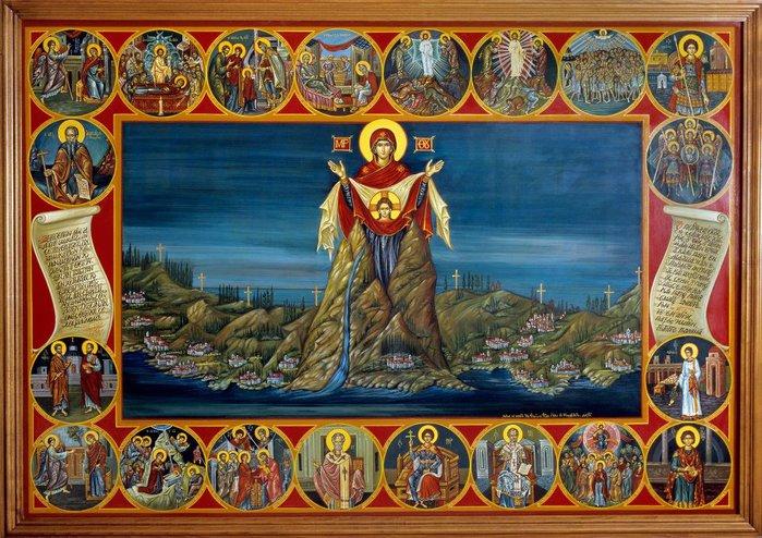 Картинки по запросу афон Игуменьей и Покровительницей Святой горы является Пресвятая Богородица.