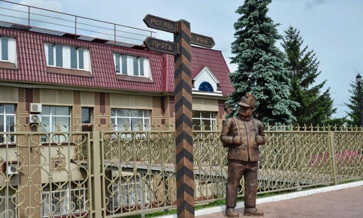 Памятник бравому солдату Швейку