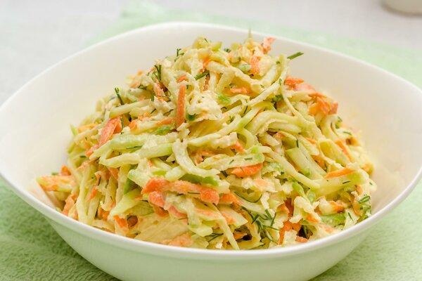 Салат из редьки и моркови. П…