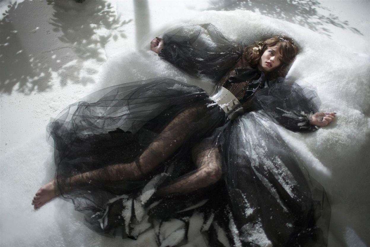 Рози Хантингтон-Уайтли в фотосессии Грега Уильямса для журнала GQ (март 2008)