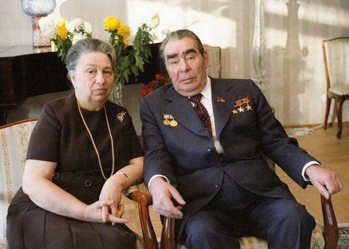Брежнев с женой Викторией. Фото