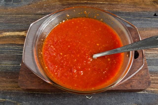 Ставим овощное пюре на плиту увариваться