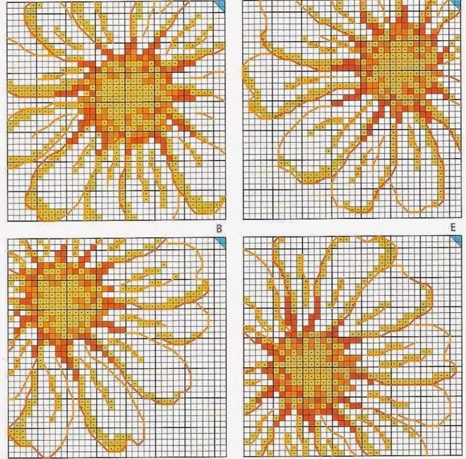 вышивка для скатерти в клетку (660x650, 688Kb)