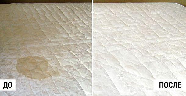 Всего 3 простых шага и матрас станет идеально чистым!