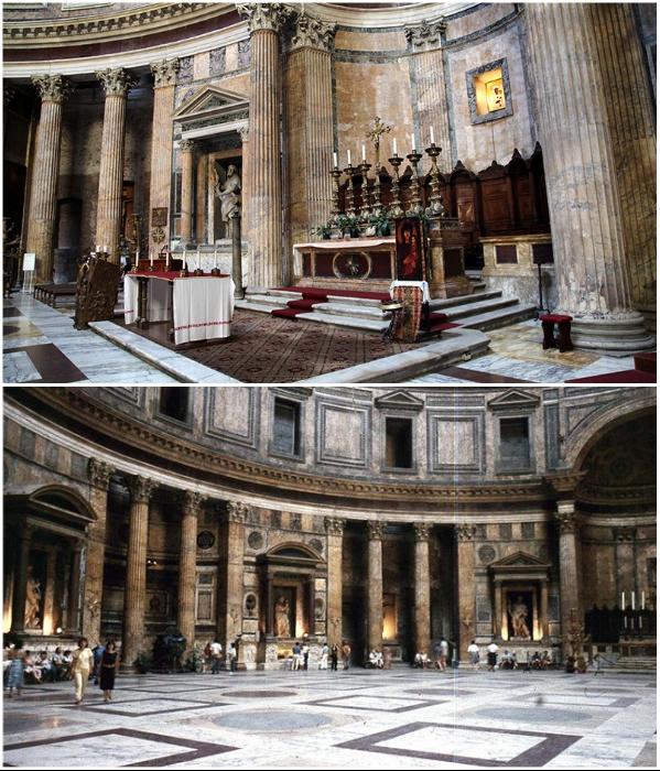 Большая часть мрамора, который активно применялся для внутренней отделки храма, сохранилась в неизменном виде и в идеальном состоянии.   Фото: wowitaly.ru/ italia-ru.com.