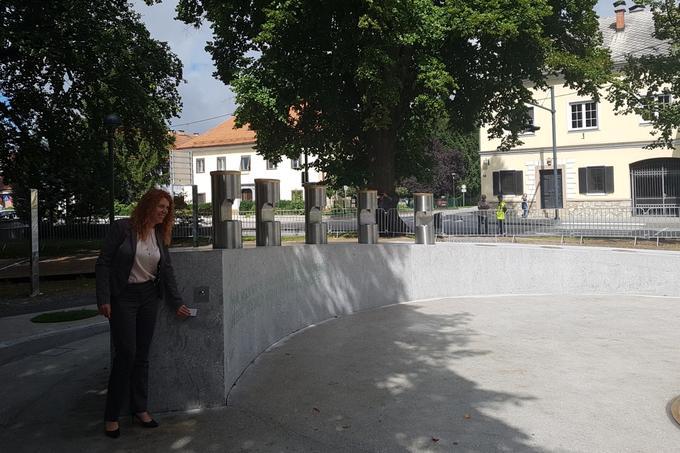 Открытие пивного фонтана в г. Жалец (Žalec) Словения
