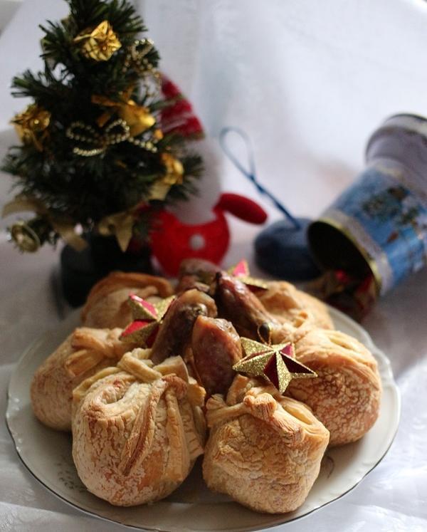 Мешочки Деда Мороза - новогодняя курочка