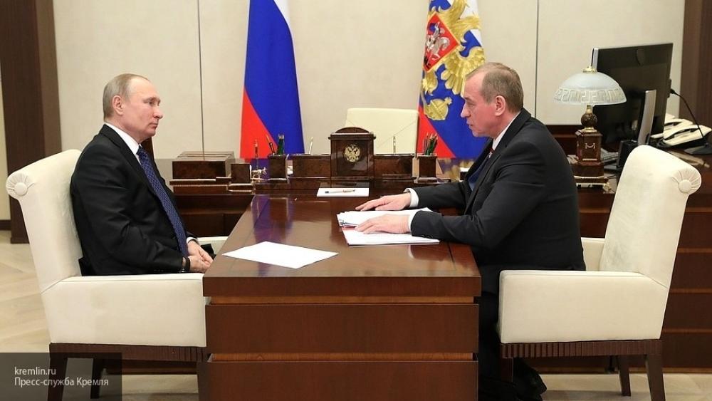 Путина заинтересовал не снижающийся уровень госдолга Иркутской области