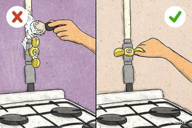 Осторожно! Утечка газа в квартире!