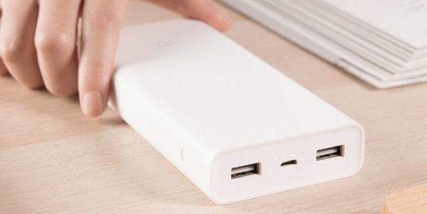 Внешний аккумулятор Xiaomi Mi Power 2C имеет емкость 20 000 мАч