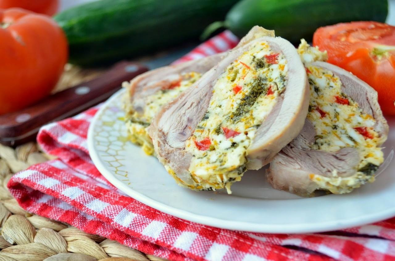 Домашние куриные рулеты (колбаски) с начинкой