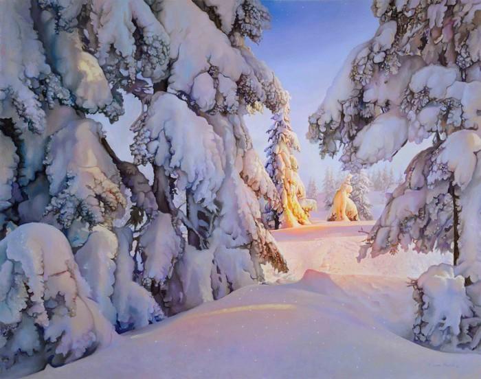 Чародейкою-Зимою околдован, лес стоит... Творчество Ричарда Мравика