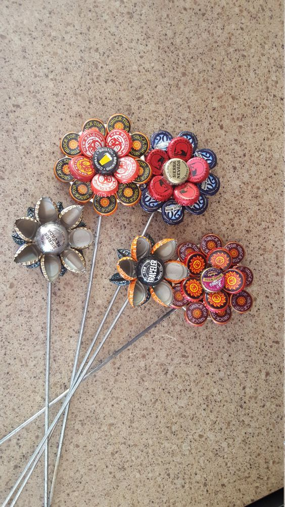 Bottle Cap Garden Flower: