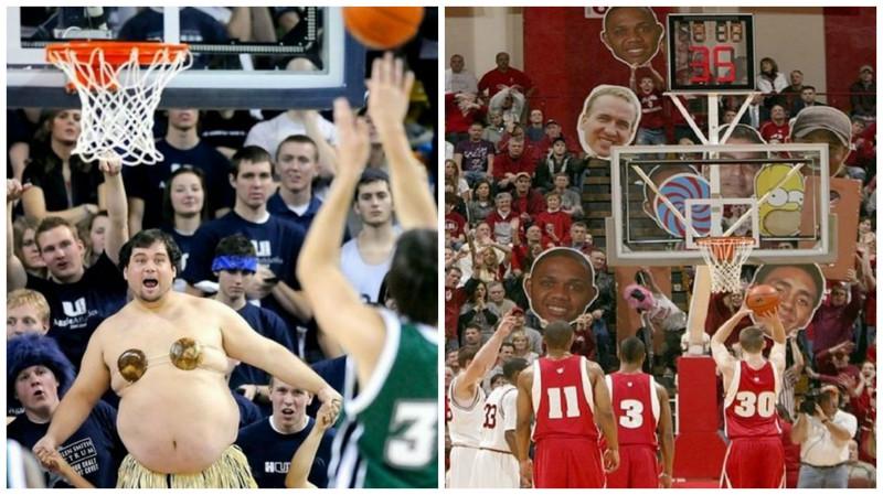 Человеческой фантазии нет предела! Как отвлекают баскетболистов?