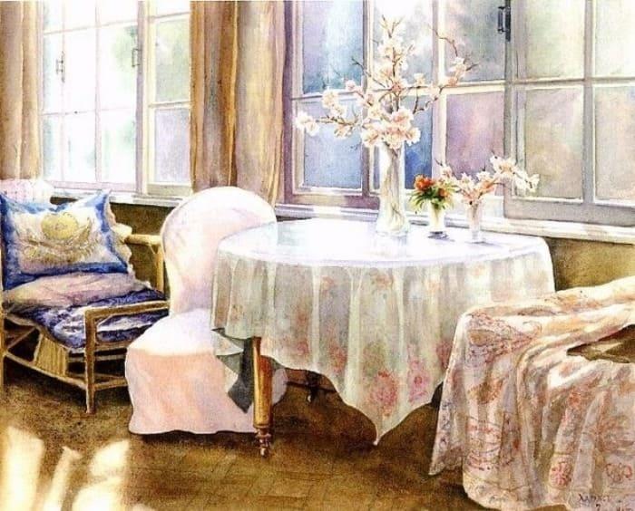 О. Куликовская-Романова. На веранде | Фото: artchive.ru