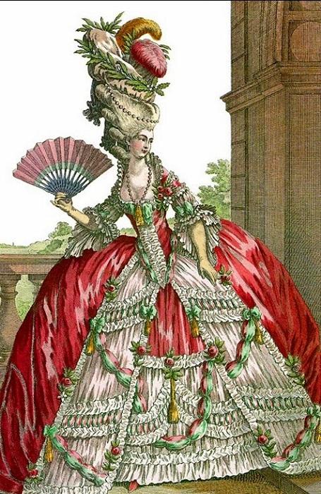 В 1770-х в моде были очень высокие прически. | Фото: storyfiles.blogspot.com.