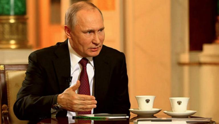Эпизод из интервью Путина, в…
