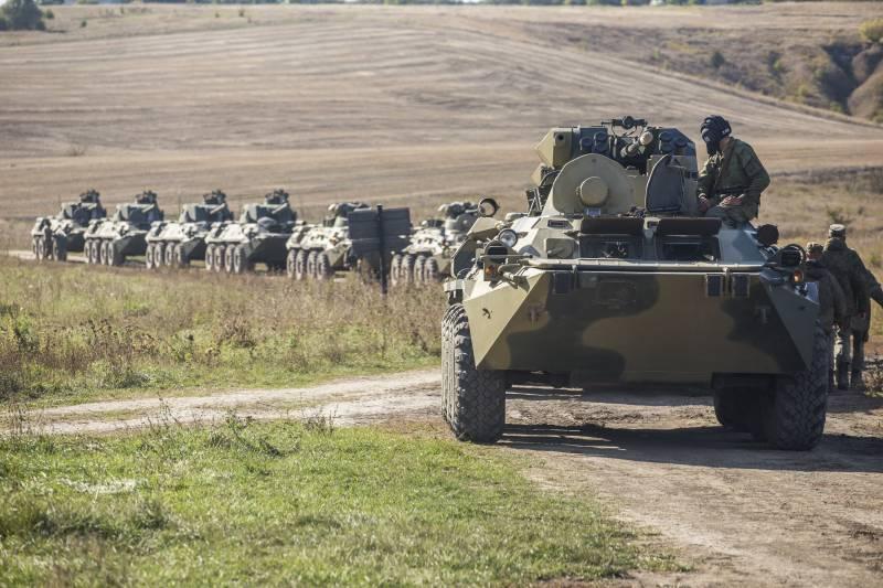 Учения в ЗВО рядом с украинской границей