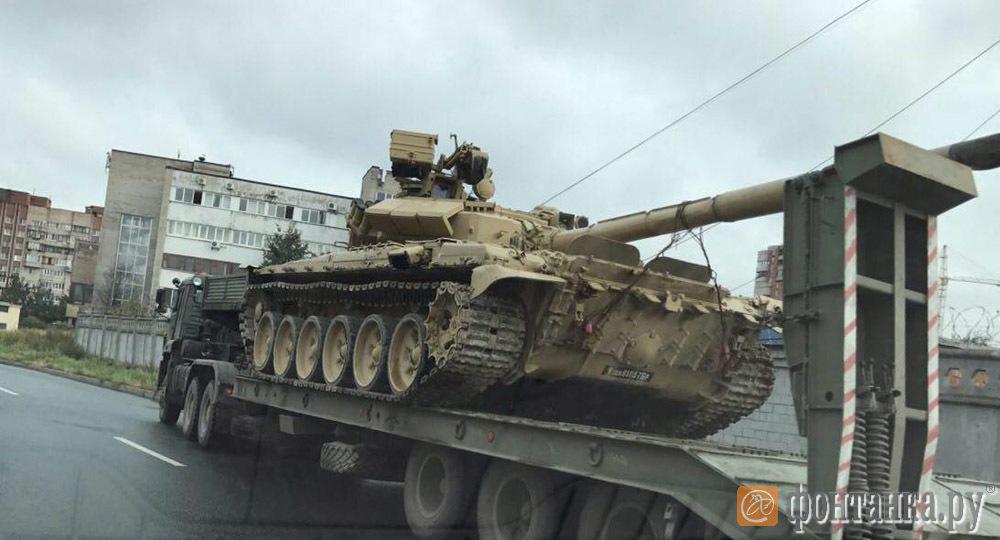 Мистические танки Т-90 в Санкт-Петербурге