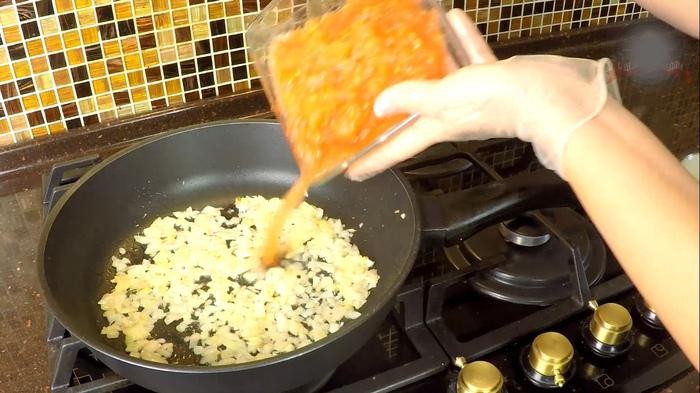 Гнезда с фаршем на сковородке Рецепт, С дедом за обедом, Еда, Кулинария, Вкусно, Просто, Видео, Длиннопост