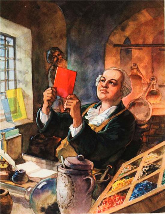 Создание производства цветного стекла в России Ломоносовым