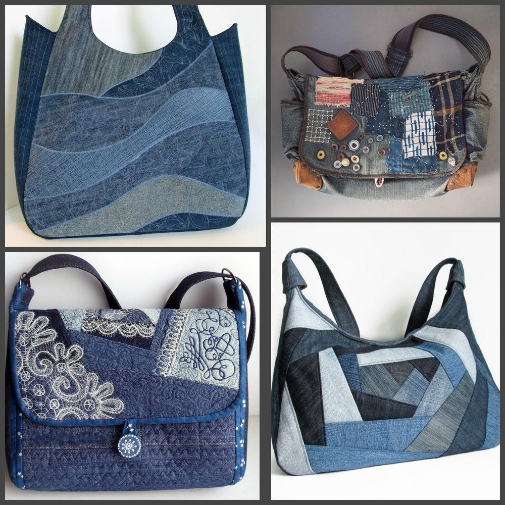 Пляжная сумка из джинсовой ткани своими руками 69